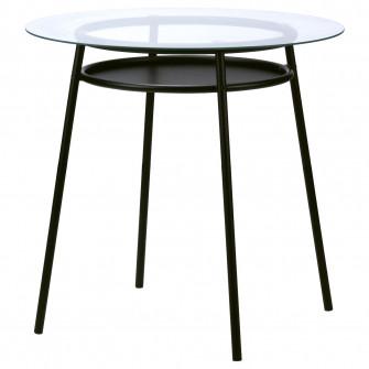 IKEA ALLSTA Masa, sticla, metal negru