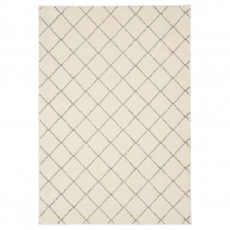 IKEA ARNAGER Covor, alb, bej, 140x200 cm