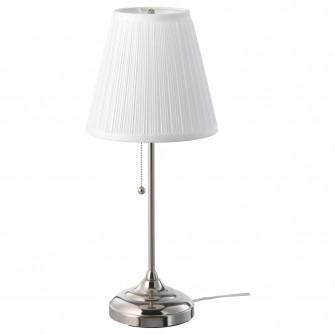 IKEA ARSTID Veioza, nichelat, alb