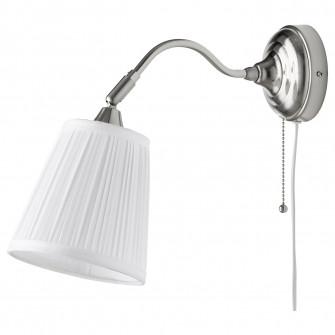 IKEA ARSTID Aplica, nichelat, alb