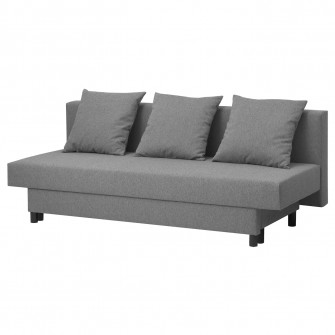 IKEA ASARUM Canapea extensibila 3locuri, gri