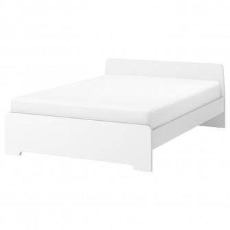 IKEA ASKVOLL Cadru pat, alb, 140x200 cm