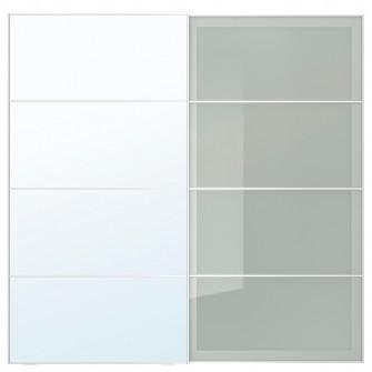 IKEA AULI / SEKKEN Set usi glisante, ogl, stcl mt, 200x