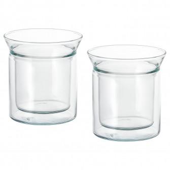 IKEA AVRUNDAD Cana, prt dbl, sticla transparenta