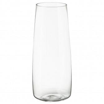 IKEA BERAKNA Vaza, sticla transparenta, 45 cm