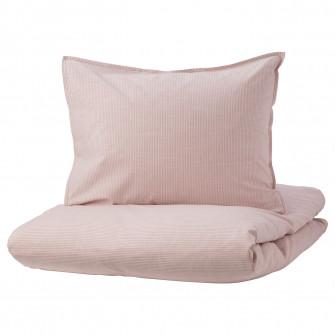 IKEA BERGPALM Husa pilota+2 fete perna, roz, dunga, 200
