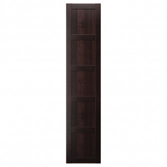 IKEA BERGSBO Usa cu balamale, negru-maro, 50x229 cm