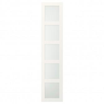 IKEA BERGSBO Usa cu balamale, stcl mt, alb, 50x229 cm