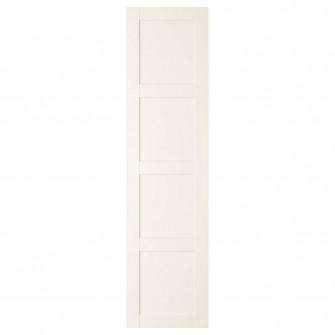 IKEA BERGSBO Usa cu balamale, alb, 50x195 cm