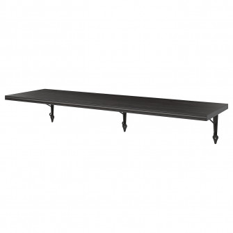 IKEA BERGSHULT / KROKSHULT Polita - negru-maro, antraci