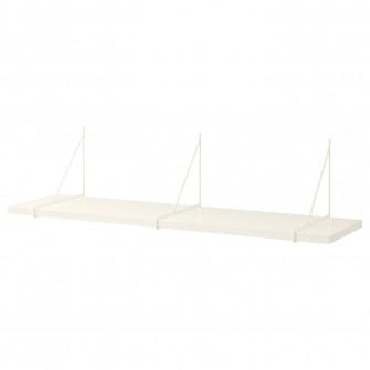 IKEA BERGSHULT /  PERSHULT Polita, alb, alb