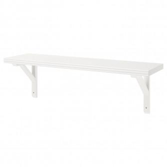 IKEA BERGSHULT / SANDSHULT Polita - alb, plop vopsit al