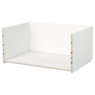 IKEA BESTA Cadru sertar, alb, 60x25x40 cm