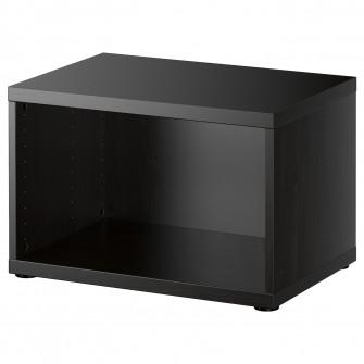 IKEA BESTA Cadru, negru-maro, 60x40x38 cm