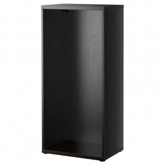 IKEA BESTA Cadru, negru-maro, 60x40x128 cm