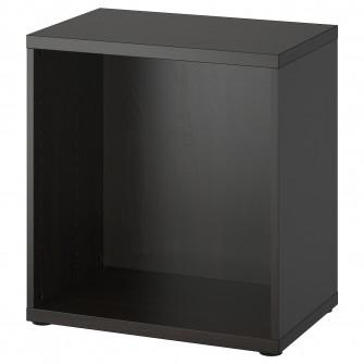 IKEA BESTA Cadru, negru-maro, 60x40x64 cm
