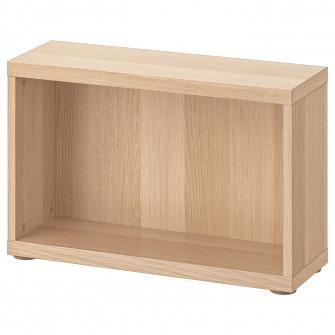 IKEA BESTA Cadru, aspect stejar antichizat, 60x20x38 cm