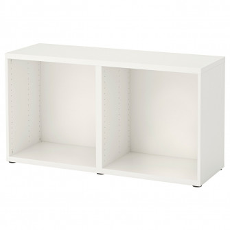 IKEA BESTA Cadru, alb, 120x40x64 cm