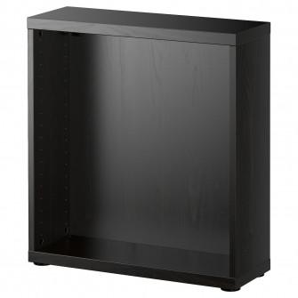 IKEA BESTA Cadru, negru-maro, 60x20x64 cm