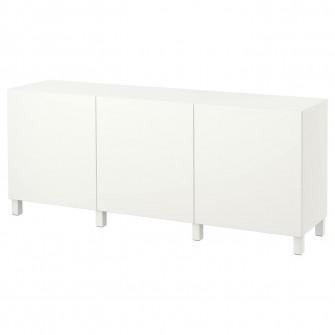 IKEA BESTA Ansamblu depozitare cu usi, Lappviken alb, 1