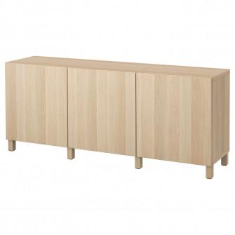IKEA BESTA Ansamblu depozitare cu usi, Lappviken aspect