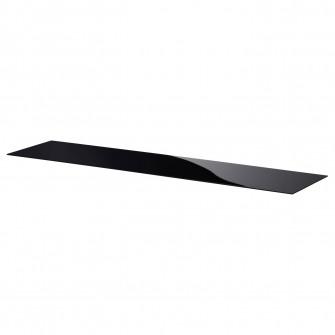 IKEA BESTA Panou superior, sticla negru, 180x40 cm
