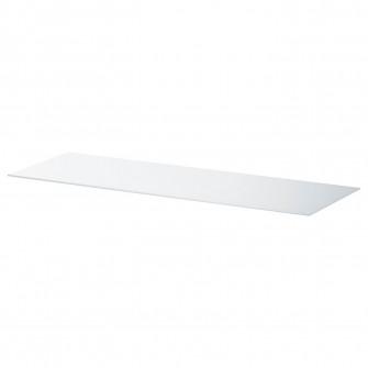 IKEA BESTA Panou superior, sticla alb, 120x40 cm