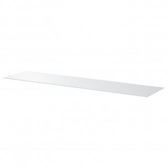 IKEA BESTA Panou superior, sticla alb, 180x40 cm