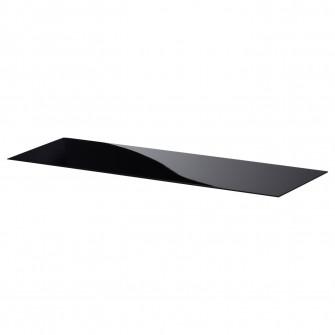 IKEA BESTA Panou superior, sticla negru, 120x40 cm