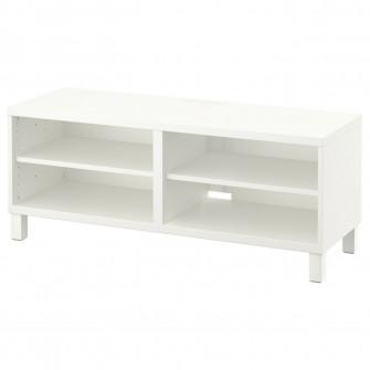 IKEA BESTA Comoda TV, alb, 120x40x48 cm