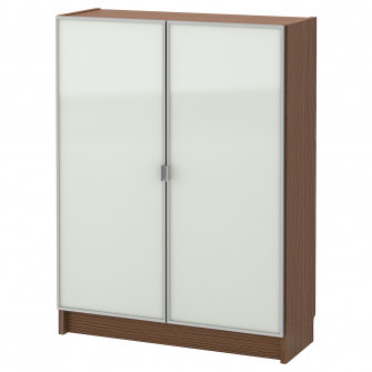 IKEA BILLY / MORLIDEN Biblioteca cu usi de sticla, maro