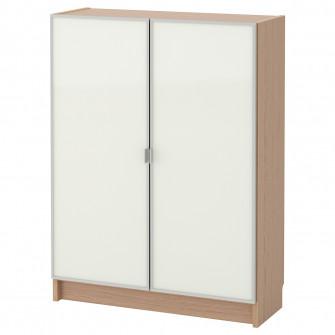 IKEA BILLY / MORLIDEN Biblioteca cu usi de sticla, furn