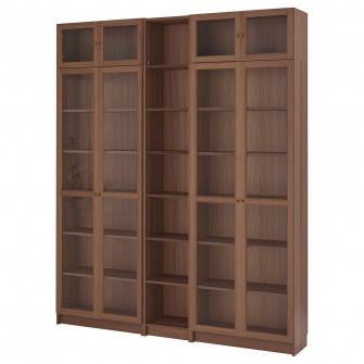 IKEA BILLY / OXBERG Biblioteca, maro furnir frasin, 200