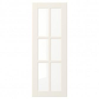 IKEA BODBYN Usa sticla, alb, 30x80 cm
