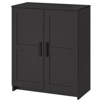 IKEA BRIMNES Corp cu usi, negru, 78x95 cm