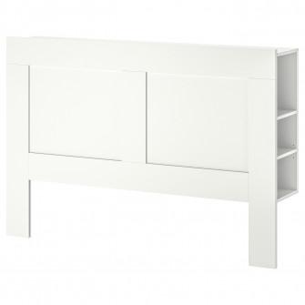 IKEA BRIMNES Tablie cu spatiu depozitare, alb, 140 cm