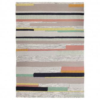 IKEA BRONDEN Covor, fir scurt, manual multicolor, 170x2