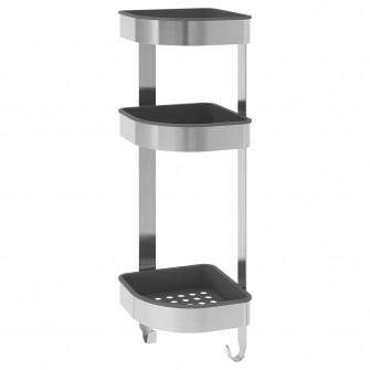 IKEA BROGRUND Etajera colt, inox, 19x58 cm