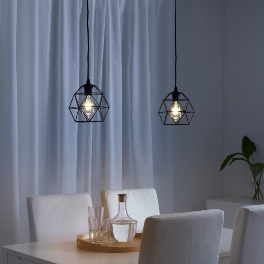 IKEA BRUNSTA / HEMMA Lustra, negru, 20 cm