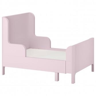 IKEA BUSUNGE Pat extensibil, roz deschis, 80x200 cm