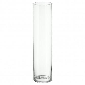 IKEA CYLINDER Vaza, sticla transparenta, 68 cm