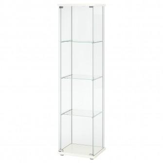 IKEA DETOLF Corp cu usa de sticla, alb, 43x163 cm