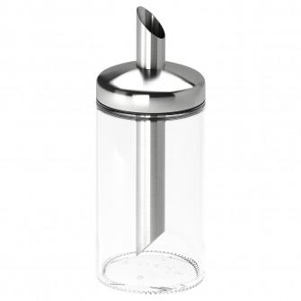 IKEA DOLD Recipient zahar, sticla transparenta, inox, 1