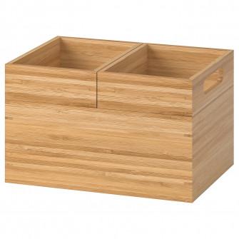 IKEA DRAGAN Set3cutii, bambus, 23x17x14 cm