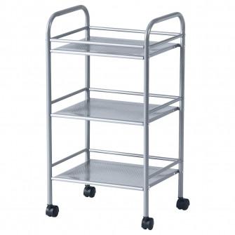 IKEA DRAGGAN Carucior, argintiu, 41x32x75 cm