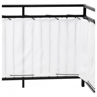 IKEA DYNING Paravan pentru balcon, alb, 250x80 cm