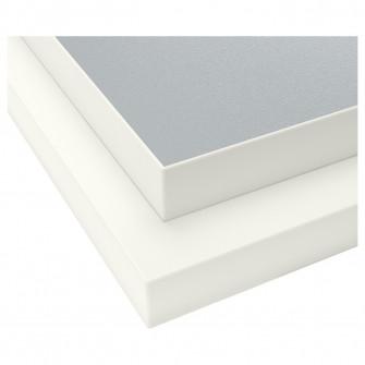 IKEA EKBACKEN Blat 2 fete - margine alba gri gri deschi