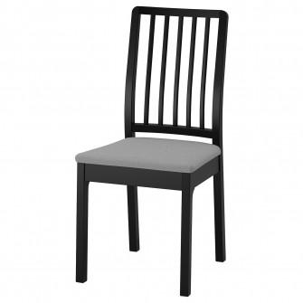 IKEA EKEDALEN Scaun, negru, Orrsta gri