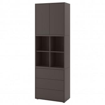 IKEA EKET CombinaTie corp cu picioare, gri inchis, 70x3