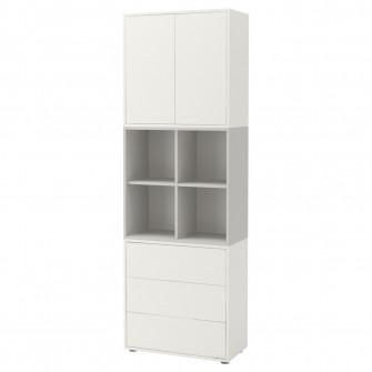 IKEA EKET Combina?ie dulap cu picioare - alb, gri